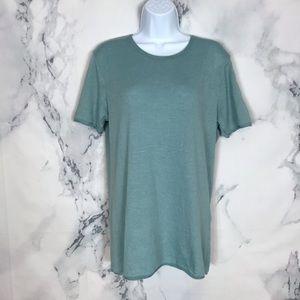 ZARA Blue Knit Short Sleeve T Shirt Size M NWOT